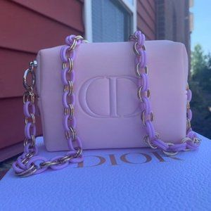 Dior small pouch on chain